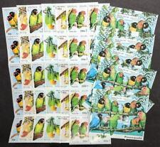 EDW1949SELL : LAOS 1997 Sc #1312-18 Parrots 10 Cplt sets & 10 S/S VF MNH Cat $64