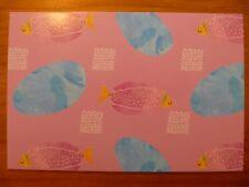 POSTCARD...HAPPY PINK FISH PATTERN...PINK TROPICAL FISH..ARTISTIC PATTERN..NEW
