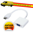 ADAPTADOR HDMI A VGA + AUDIO CONVERTIDOR CONVERSOR CON CABLE AUDIO JACK 3.5mm