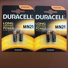 4 x BATTERIE ALCALINE DURACELL MN21 12V A23 23A LRV08 K23A E23A LRV08 BATTERIA