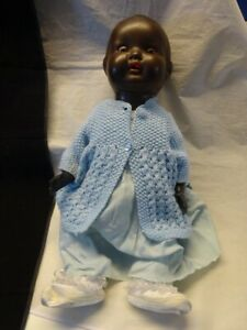 """Antique Black Doll A.M. Armand Marseille Germany 518 Repaired 23"""""""