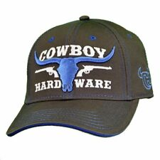 4000879d477 Cowboy Hardware Grey Longhorn Logo Embroidered Snapback Ball Cap  101119-043-Q