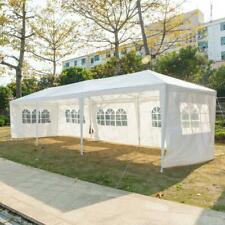 10'x30' Party Tent Wedding Commercial Gazebo Marquee Canopy W/5 Side Wall Awings