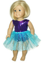"Purple Leotard Teal Tutu fits American Girl 18"" Doll Clothes Ballet Dance"