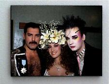 Rare Framed Freddie Mercury Boy George Jane Seymour Vintage Photo. Giclée Print