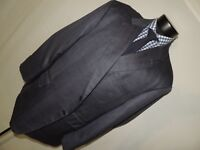 Bespoke Men's Blue plaid jacket size 56 SHORT PORTLY