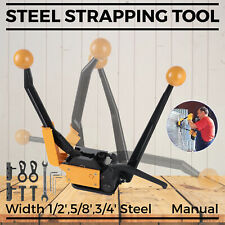 A333 Manual Strapping Tool Portable Steel Straps Banding Sealless Combination
