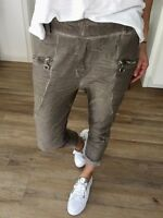 Hose Toupe Braun 34 36 38 XS S M Jogging Jog Pants Chino Damen Jogger
