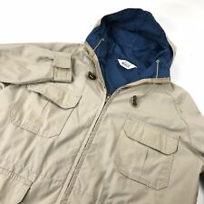 Woolrich Mens Parka Jacket Shell Cotton Vintage Beige USA Hipster Streetstyle L