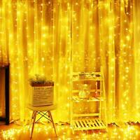 6M x 3M LED Curtain Fairy Lights String Indoor Outdoor Backdrop Christmas Party