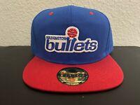 Vintage Washington Bullets NBA Vintage Old School Logo Snapback Hat Cap NEW B9