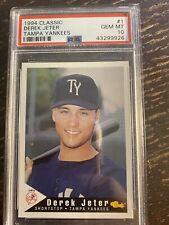 1994 Classic Derek Jeter Tampa Yankees RC # 1 PSA 10