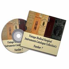 Colección de Vintage Catálogo médica instrumentos quirúrgicos 7 libros de microscopio de herramientas