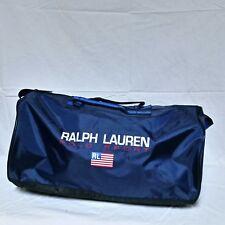 VTG Ralph Lauren Polo Sport Duffle Bag Flag Spell Out 90s Gym Travel Bear School