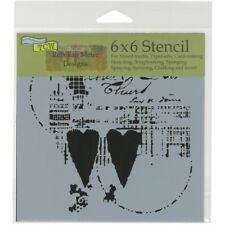 TCW - Stencil 6in. x 6in. - Two Hearts
