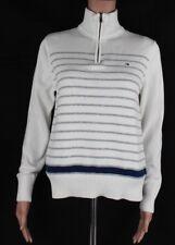 Tommy Hilfiger women's half zip long sweater pullover flag logo cotton size XS