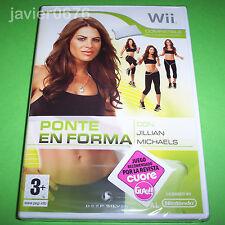 PONTE EN FORMA CON JILLIAN MICHAELS NUEVO Y PRECINTADO PAL ESPAÑA NINTENDO Wii