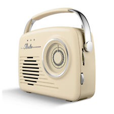 Akai A60014C AM/FM Vintage Retro Design Radio with SD/USB Input Cream -Brand New