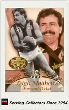 1996 Select AFL Hall Of Fame Team Of The Century Card TC16 Leigh Matthews