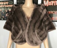 Vintage 30's Fur Cape Capelet With Pockets Women's Dress Coat