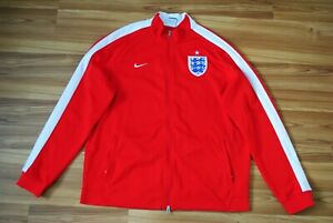 SIZE XXL NIKE N98 ENGLAND NATIONAL TEAM FOOTBALL AUTHENTIC TRACK JACKET RED RARE