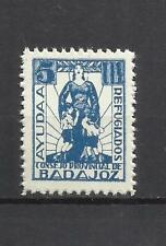 563A-SELLOS LOCALES ESPAÑA GUERRA CIVIL 1937 BADAJOZ REFUGIADOS AYUDA.NUEVO (*)