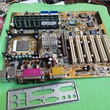 FIC VC15-L Socket 478 Motherboard complete w/ P4 1.5Ghz CPU & 768MB Ram & Shield