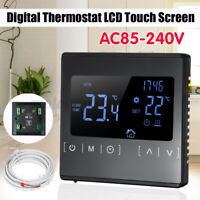 Digital Floor Heating Thermostat Controller LCD Touch Screen with External