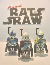 Lego Star Wars minifigures - Clone Custom Troopers ARC Comdrs Havoc, Colt, Blitz