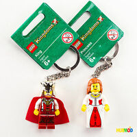 LEGO Kingdoms Minifig KING PRINCESS Keychain 852958 852912 Castle Minifigure NEW
