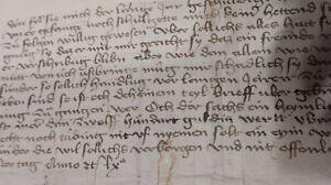 Hans Leutrum von Ertingen: Handschriftliche Urkunde Wien 1460