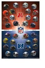 NFL ~ 32 TEAMS ~ HELMET/LOGO ~ 22x34 SPORTS POSTER ~ NEW/ROLLED!