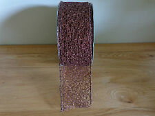 1 Metri Filo di rame tipo di mesh taglio Natale Nastro 3.8cm/1.5 Pollici di larghezza.
