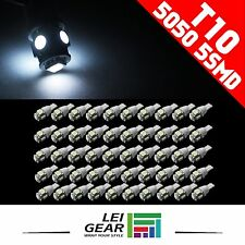 20PCS 12V 5050 White T10 W5W 168 194 LED Car Wedge Light Dome Lamp Bulbs 5SMD