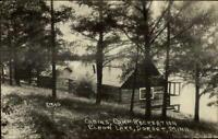 Dorset MN Elbow Lake Cabins c1910 Real Photo Postcard