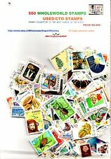 WHOLEWORLD 500 DIFFERENT USED/CTO THEMATICS STAMPS - Precious Collection