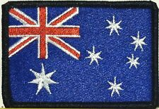 AUSTRALIA Flag Tactical Patch With VELCRO® Brand Fastener BLACK Border #12