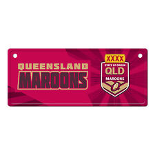 State of Origin QLD Queensland Maroons LICENCE PLATE TIN SIGN Man Cave Car Shed