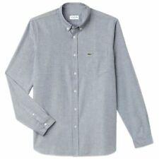 Camicie casual e maglie da uomo blu Lacoste a lunghezza della manica manica lunga