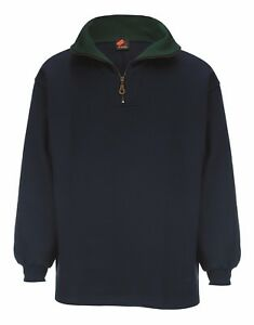 MEN`s SPORT CLUB NAVY BLUE & GREEN CASUAL STYLISH CLASSIC SWEAT SHIRT ¼ zip Golf