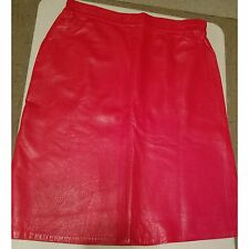 Womens Size 18 Red Leather Mini Skirt