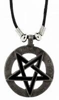 PENTAGRAM - Halskette Kette Anhänger 4x4cm