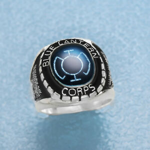 Solid Sterling Silver Blue Corps Ring