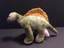 "FAO Schwarz Plush Dinosaur Stuffed Animal  Spinosaurus Green Brown 12"""