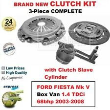 FOR FORD FIESTA Mk V Van 1.4 TDCi 68bhp 2003-2008 BRAND NEW 3PC CLUTCH KIT + CSC