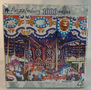 Puzzlebug Jigsaw Puzzle Brightly Colored Carousel 1000pc 46x58cm