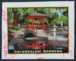 U.S. Used #5156 Lili'uokalani Gardens on piece, Superb. Magenta CDS Cancel. Gem!