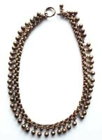 Antique Victorian Ball Bib Collar Rolled Gold? Necklace Repairs