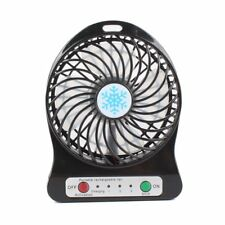 USBMini Fan Portable Small Desk Pocket Handheld Air Rechargeable Fan with Flash