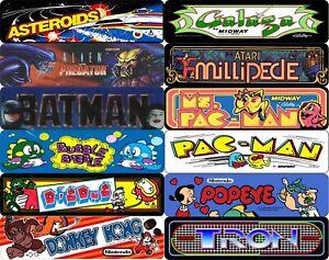 Arcade Sign, Classic Arcade Game Marquee, Game Room Aluminum Sign Choose Game